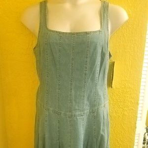 HP 🏵NWT Jessica Howard Denim Overall Dress 1X 16
